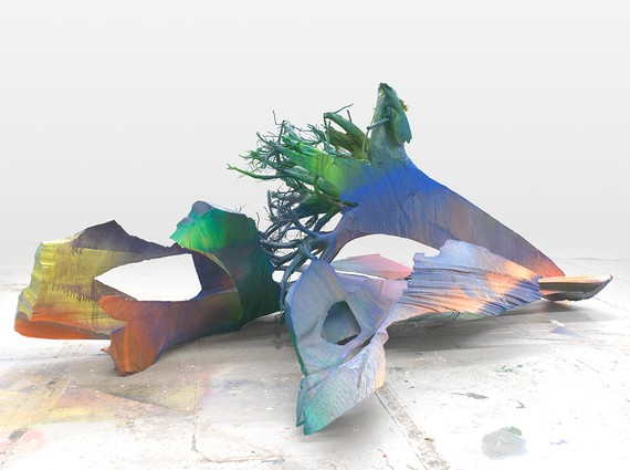 Katharina Grosse, Untitled, 2015 © Katharina Grosse and VG Bild-Kunst Bonn, 2019