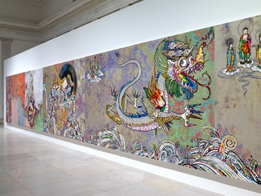 Installation view, Takashi Murakami: The Deep End of the Universe, Albright-Knox Art Gallery, Buffalo, New York, November 4, 2017–January 28, 2018 © 2018 Takashi Murakami/Kaikai Kiki Co., Ltd. All Rights Reserved. Photo: Tom Loonan and Brenda Bieger, courtesy Albright-Knox Art Gallery, Buffalo, New York