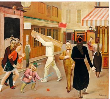 Balthus, The Street, 1933, Museum of Modern Art, New York © 2017 Artists Rights Society (ARS), New York/ADAGP, Paris