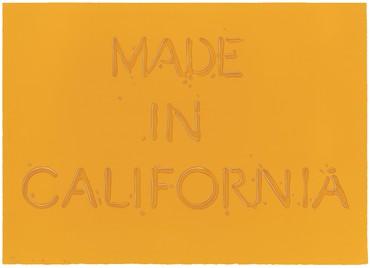 Ed Ruscha, Made in California, 1971 © Ed Ruscha