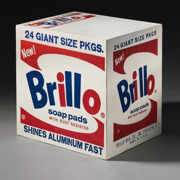 Andy Warhol, Brillo Soap Pads Box, 1964, Andy Warhol Museum, Pittsburgh © 2017 The Andy Warhol Foundation for the Visual Arts, Inc./Artists Rights Society (ARS), New York