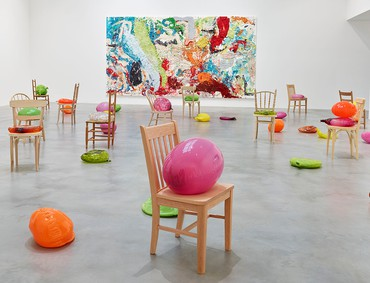 Installation view, Dan Colen: Sweet Liberty, Newport Street Gallery, London, October 4, 2017–January 28, 2018. Artwork © Dan Colen. Photo by Prudence Cumings Associates Ltd © Victor Marta Ltd.