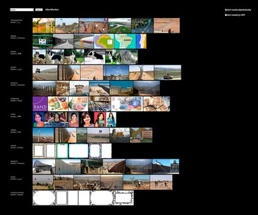 Taryn Simon and Aaron Swartz, Border, 9/30/16, 12:19pm (Eastern Standard Time), Image Atlas, 2012, website view