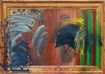 Howard Hodgkin, Portrait of the Artist Listening to Music, 2011–16 © Howard Hodgkin