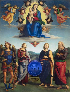 Jeff Koons, Gazing Ball (Perugino Madonna and Child with Four Saints), 2014–15 © Jeff Koons