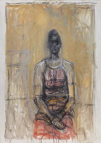 Alberto Giacometti, Caroline avec une robe rouge (Caroline in a Red Dress), c. 1964–65, Fondation Giacometti, Paris © 2018 Alberto Giacometti Estate/Licensed by VAGA and ARS, New York