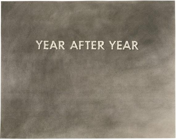 Ed Ruscha, Year after Year, 1973, UBS Art Collection © Ed Ruscha