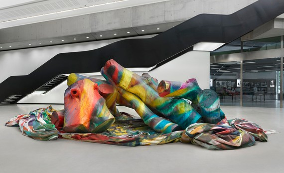 Katharina Grosse, Ingres Wood Seven, 2017 © Katharina Grosse and VG Bild-Kunst Bonn, 2019 Photo: Jens Ziehe