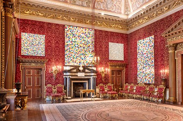 Installation view, Damien Hirst at Houghton Hall: Colour Space Paintings and Outdoor Sculptures, Houghton Hall, Norfolk, England, March 25–July 15, 2018. Artwork © Damien Hirst and Science Ltd. All rights reserved, DACS 2018. Photo: Pete Huggins