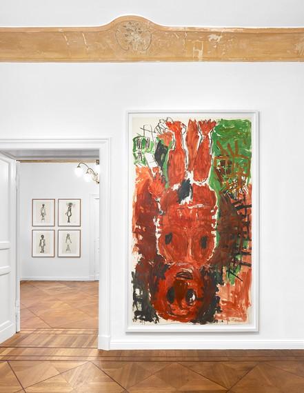 Installation view, Hommage à Georg Baselitz, Contemporary Fine Arts, Berlin, January 23–March 3, 2018 © Georg Baselitz 2018