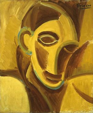 Pablo Picasso, Cabeza de mujer, 1907 © Succession Picasso, VEGAP, Madrid 2019