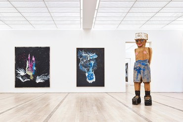 Installation view, Georg Baselitz, Fondation Beyeler, Riehen/Basel, January 21–April 29, 2018. Artwork © Georg Baselitz 2018