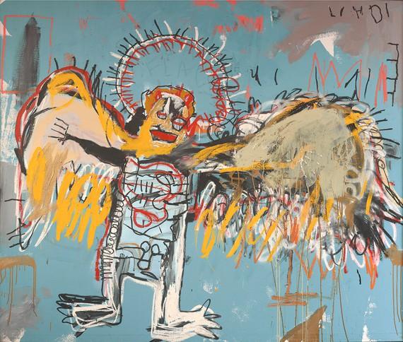 Jean-Michel Basquiat, Fallen Angel, 1981, Fondation Carmignac, Paris © The Estate of Jean-Michel Basquiat/ADAGP, Paris 2018