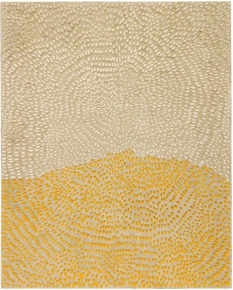 Jennifer Guidi, Becoming the Mountain (Painted White Sand SF #1F, White and Yellow), 2016 © Jennifer Guidi