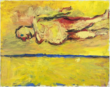 Georg Baselitz, Frau am Strand (Woman on the Beach), 1981 © Georg Baselitz 2018
