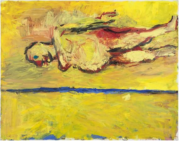 Georg Baselitz, Frau am Strand (Woman on the Beach), 1981 © Georg Baselitz 2018