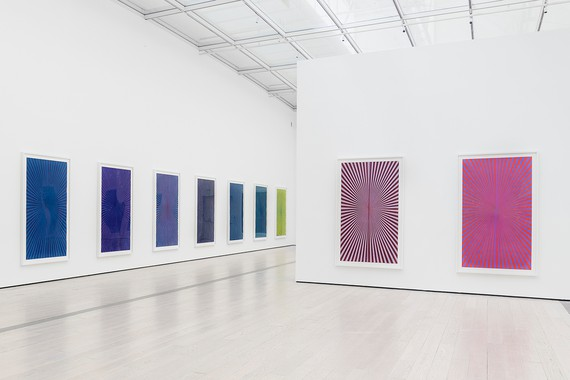 Installation view,Mark Grotjahn: 50 Kitchens, Los Angeles County Museum of Art, May 20–August 19, 2018. Artwork © Mark Grotjahn. Photo: Museum Associates/LACMA