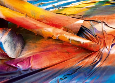 Katharina Grosse, Ingres Wood, 2018 (detail), Villa Médicis—Académie de France à Rome, February 2–April 29, 2018 © Katharina Grosse and VG Bild-Kunst Bonn, 2018. Photo: Alessandro Vasari