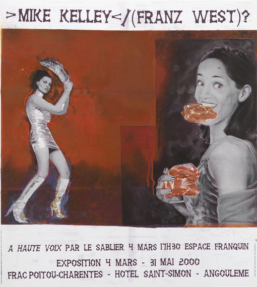 Mike Kelley and Franz West's poster design for performance of To Be Read Aloud (À haute voix) (1999). Artwork © Mike Kelley Foundation for the Arts. All rights reserved/Licensed by VAGA at Artists Rights Society (ARS), New York; and © Archiv Franz West