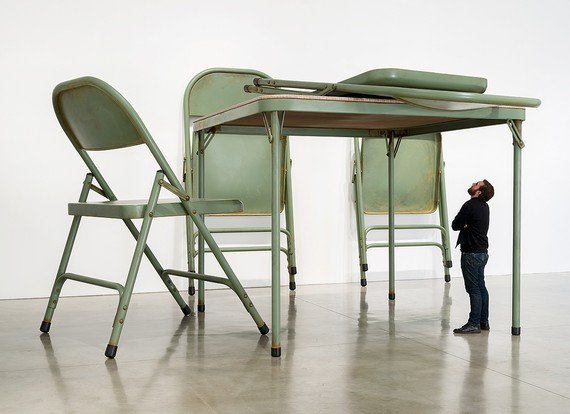 Robert Therrien, No title (folding table and chairs, green), 2008 © Robert Therrien/Artists Rights Society (ARS), New York