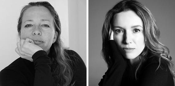 Jenny Saville (left). Photo: A. Saville. Clare Waight Keller (right). Photo: Steven Meisel