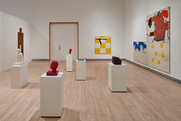 Installation view, Joe Bradley, Rose Art Museum, Waltham, Massachusetts, October 15, 2017–January 28, 2018