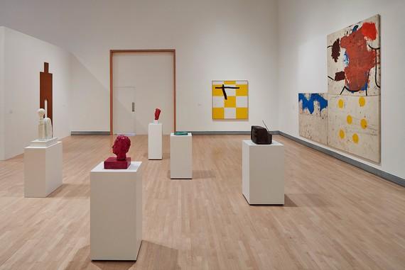 Installation view, Joe Bradley, Rose Art Museum, Waltham, Massachusetts, October 15, 2017–January 28, 2018
