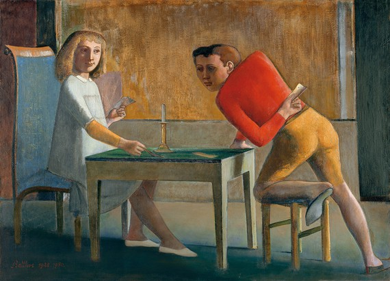 Balthus, The Card Game, 1948–50, Museo Nacional Thyssen-Bornemisza, Madrid © Balthus