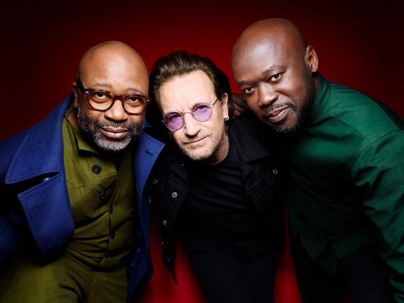 Theaster Gates, Bono, and David Adjaye. Photo: Rankin