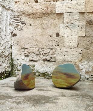 Sarah Sze, Split Stone (7:34), 2018, installation view, Museo Nazionale Romano, Crypta Balbi, Rome © Sarah Sze. Photo: Matteo D'Eletto, M3 Studio