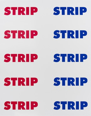Sterling Ruby, STRIP STRIP (RB) Limited Edition Poster, 2016 © Sterling Ruby Studio. Photo: Robert Wedemeyer