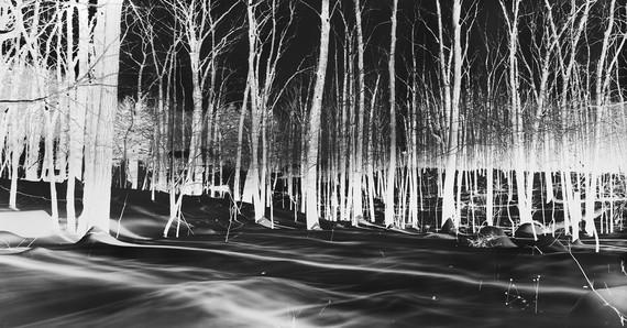 Vera Lutter, Cold Spring, IX: February 17, 2014, 2014