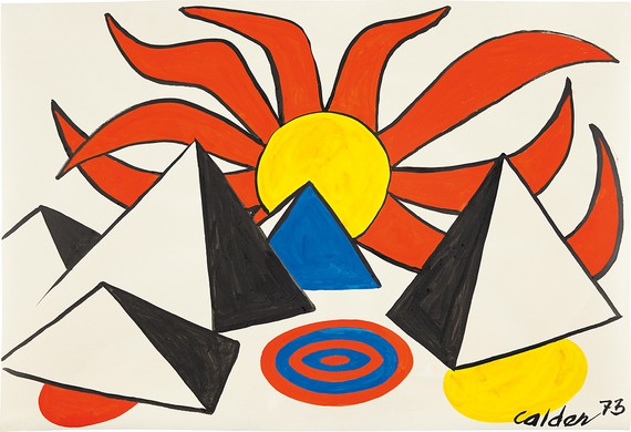 Alexander Calder, Composition (Pyramids and Sun on Target), 1973 © 2018 Calder Foundation, New York/Artists Rights Society (ARS), New York