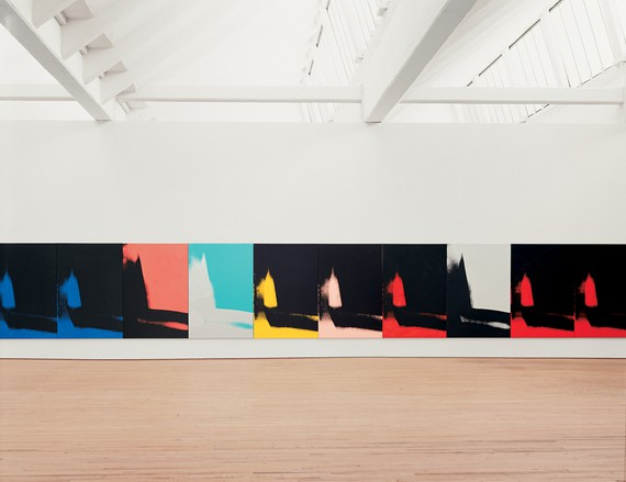 Installation view, Andy Warhol: Shadows, Dia:Beacon, New York, 2003–11. Artwork © The Andy Warhol Foundation for the Visual Arts, Inc./Artists Rights Society (ARS), New York. Photo: Bill Jacobson Studio, New York