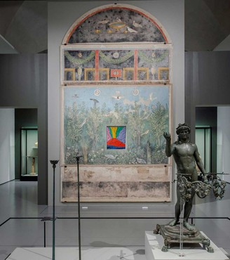 Installation view, Pompei e Santorini: l'eternità in un giorno, Scuderie del Quirinale, Rome, October 11, 2019–January 6, 2020. Artwork © The Andy Warhol Foundation for the Visual Arts, Inc./Artists Rights Society (ARS), New York. Photo: Studio Idini