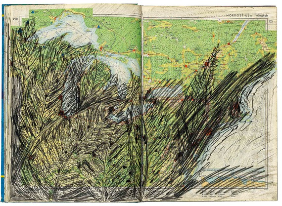 Anselm Kiefer, Territories and peoples of our time (A politico-geographical manual), 1976 © Anselm Kiefer