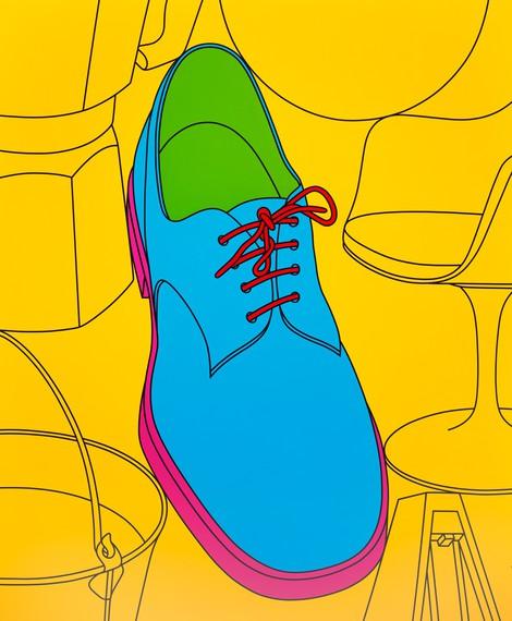 Michael Craig-Martin, Untitled (shoe), 2009 © Michael Craig-Martin