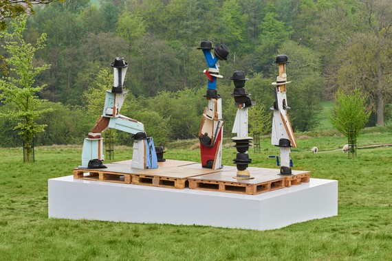 Damien Hirst, The Hat Makes the Man, 2004–07, installation view, Yorkshire Sculpture Park, England, June 22–September 29, 2019 © Damien Hirst and Science Ltd. All rights reserved, DACS 2019
