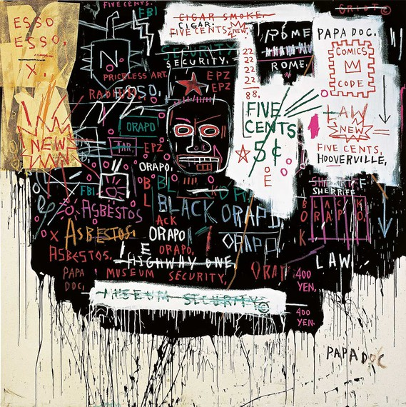 Jean-Michel Basquiat, Museum Security (Broadway Meltdown), 1983 © Estate of Jean-Michel Basquiat. Licensed by Artestar, New York