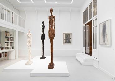 Installation view, Histoire de corps: Le nu dans l'oeuvre d'Alberto Giacometti, Institut Giacometti, Paris, June 22–November 6, 2019. Artwork © Succession Alberto Giacometti (Fondation Giacometti Paris + ADAGP Paris) 2019