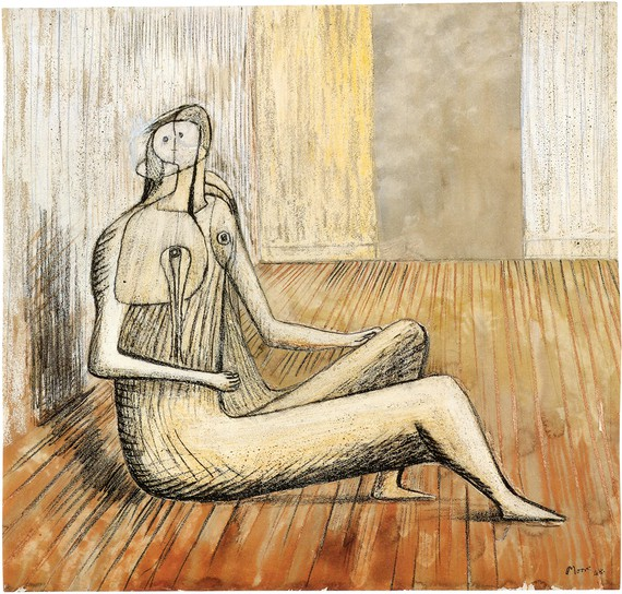 Henry Moore, Seated Figure, 1948 © Henry Moore Foundation