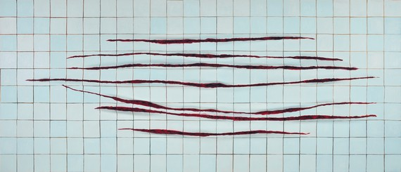 Adriana Varejão, Parede com Incisões à la Fontana—Horizontal (Wall with Incisions à la Fontana—Horizontal), 2009–11, Metropolitan Museum of Art, New York © Adriana Varejão. Photo: Jaime Acioli