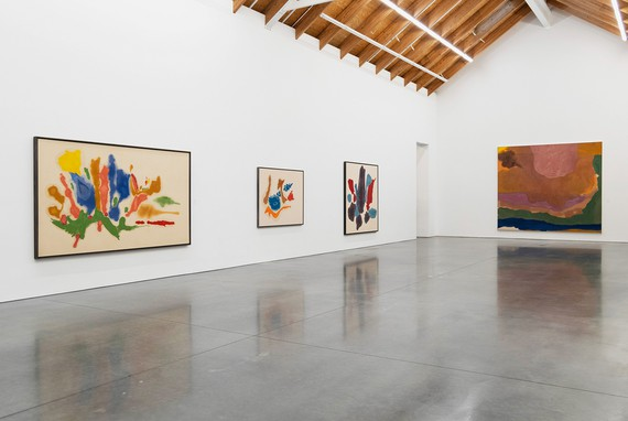 Installation view, Abstract Climates: Helen Frankenthaler in Provincetown, Parrish Art Museum, Water Mill, New York, August 4–October 27, 2019. Artwork © 2019 Helen Frankenthaler Foundation, Inc./Artists Rights Society (ARS), New York. Photo: Gary Mamay