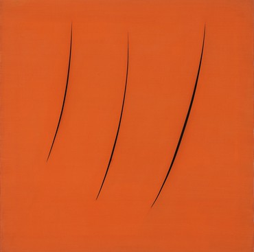 Lucio Fontana, Spatial Concept, Expectations, 1959 © 2019 Fondazione Lucio Fontana/Artists Rights Society (ARS), New York/SIAE, Rome