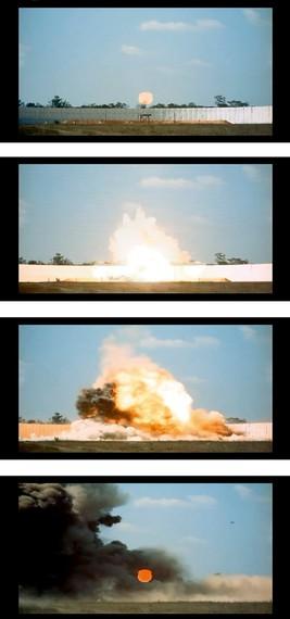 Taryn Simon, Exploding Warhead, Test Area C-80C, Eglin Air Force Base, Florida, 2007 (detail) © Taryn Simon