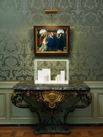 Installation view, Elective Affinities: Edmund de Waal at the Frick Collection, Frick Collection, New York, May 30–November 17, 2019. Artwork © Edmund de Waal