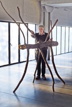 Giuseppe Penone with Spazio di luce (Space of Light) (2008) in his studio, Turin, Italy, 2016. Photo: Angela Moore