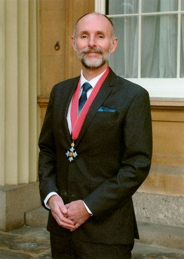 Glenn Brown at his CBE investiture ceremony, 2019