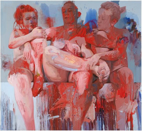 Jenny Saville, Red Fates, 2018 © Jenny Saville