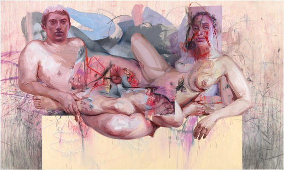 Jenny Saville, Vis and Ramin II, 2018, Art Gallery of New South Wales, Sydney © Jenny Saville